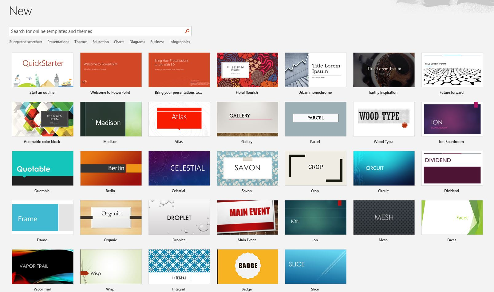 How to get design ideas on powerpoint 1