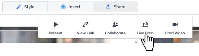 LIve Prezi Share Button