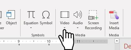 insert video button